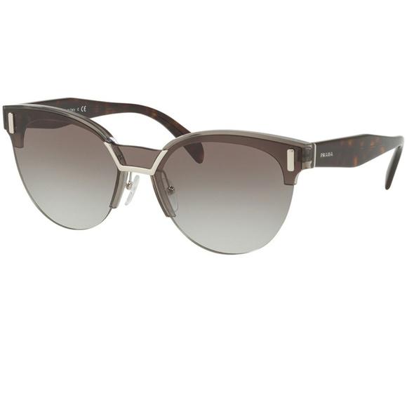45fa084d4ef2 Prada Accessories   Sunglasses Transparent Grey Wgrey Lens   Poshmark